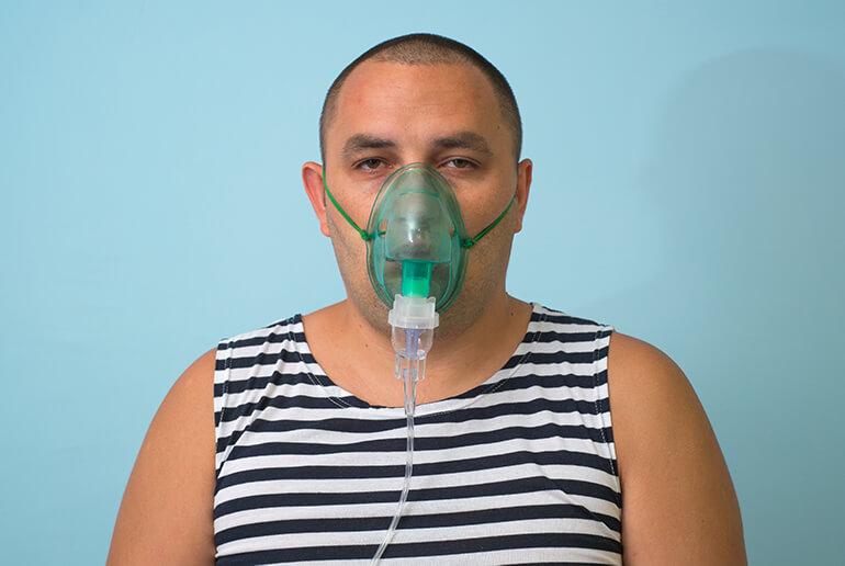 overweight man - asthma