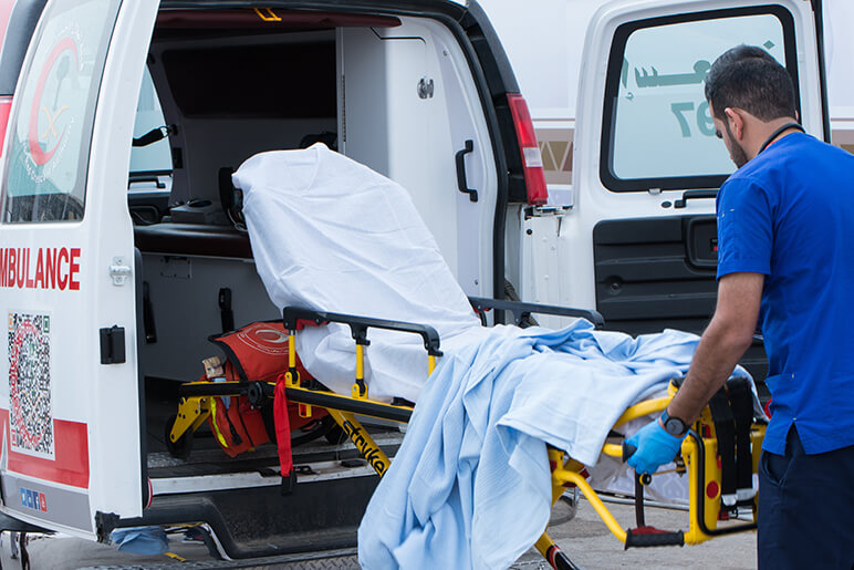 Ambulance in Saudi Arabia Editorial credi - Ali Al-Awartany - Shutterstock.com