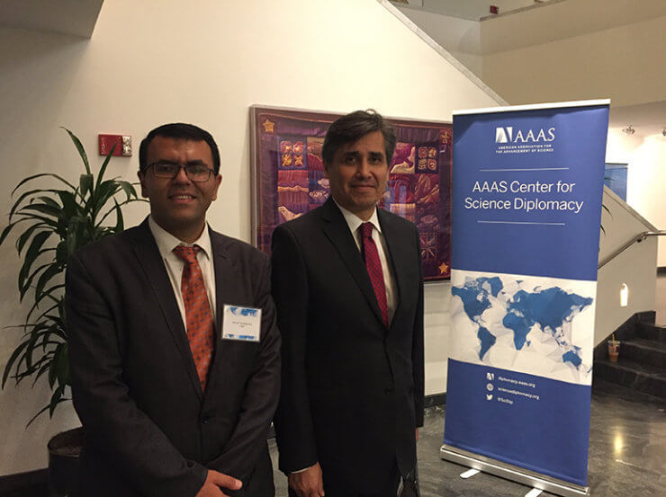 Ambassador. Juan José Gómez Camacho (Permanent Representative of Mexico to the United Nations in NY) on September 14, 2018, at The American Association for the Advancement of Science (AAAS) headquarters in Washington, DC during the fourth annual science diplomacy conference, Science Diplomacy 2018, which was hosted by AAAS Center for Science Diplomacy