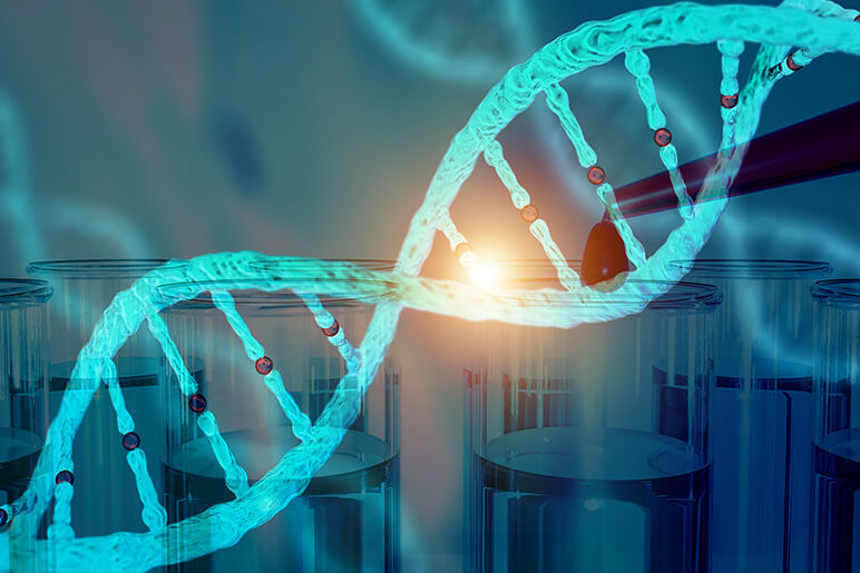 DNA research concept DNA barcodes for biomedical research mitochondrial DNA Prostate cancer