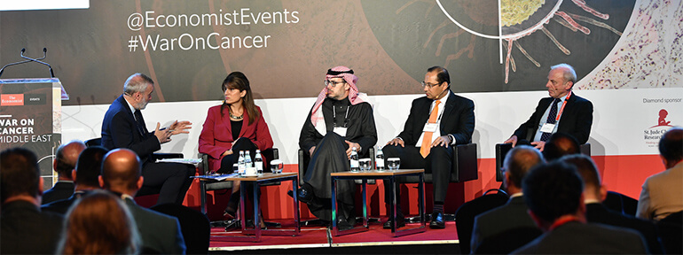 Panel at The Economist Events' War on Cancer Middle East 2019